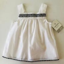 Carter's Toddler Girl 2T Black White Top Cotton Summer - $14.50