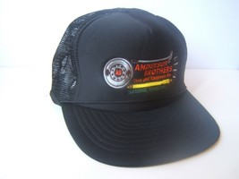 Anderson Brothers Truck Equipment Co Hat Vintage Black Snapback Trucker Cap - $14.87