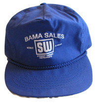 Bama Sales Stewart Warner Mobile, AL Blue Baseball Trucker Hat Snap Back... - $5.99
