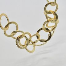 Choker Necklace Silver 925 Foil Gold with Circles by Maria Ielpo Made in Italy - image 5