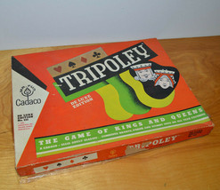 Vintage Tripoley Card Game 1962 Cadaco Ellis Nice Mats Extras - $7.56