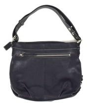 Coach Luxe Black Pebbled Leather Shoulder Bucket Bag Purse Satchel Harness M - $44.54