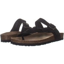 White Mountain Crawford Braided Slip On Sandals 767, Black, 10 US - $26.87