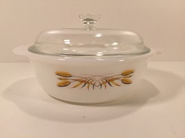 Vintage Fire King 447 Golden Wheat Covered Dish - $9.99