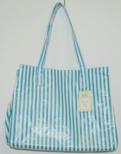Mainstreet Collection DBST6665 Stripe Diaper Bag Coated Canvas