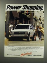 1991 Chevy S-10 Blazer Ad - Power shopping - $14.99