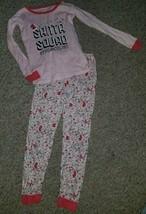 The Children's Place Pink Santa Squad Cotton Pajamas Girls Size 5T - $4.66