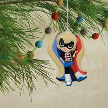 Hallmark DC Comics Harley Quinn Decoupage Shatterproof Christmas Tree Ornament image 4