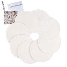 Nursing Breast Pads Washable Bamboo Organic Care Nipple Pad 8pcs | Washable/Brea