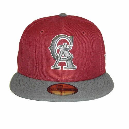 New Era MLB California Angels Custom 2 Tone  Burgundy Size Cap 59fifty NewEra