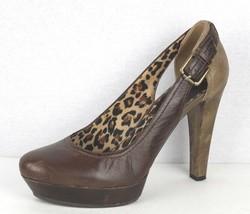 Jessica Simpson Femmes Chaussures Plateformes Très Talon Haut Cuir Marro... - $19.44