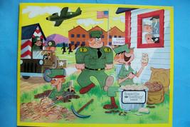 Vintage 1970s (?) Beetle Bailey Frame Tray Jigsaw Puzzle by Jaymar - Com... - $14.33