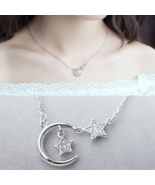 [Jewelry] Moon Embrace Star Anime Silver Necklace for Woman/Best Friend ... - $12.09