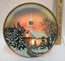 Lighted Plate Night Lamp Light Church Theme Design Electric Table Lite C... - €15,51 EUR