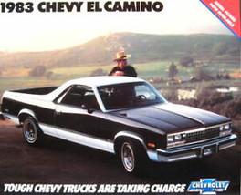 1983 Chevrolet El Camino Sales Brochure, 83 SS MINT - $5.80