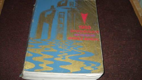 1985 Pontiac 6000 Sechs Thousand Service Shop Reparatur Manuell OEM 85 Werk Buch