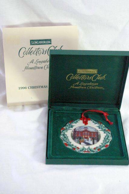 Primary image for Longaberger 1996 Old Union School Christmas Ornament In Box 1st In Series