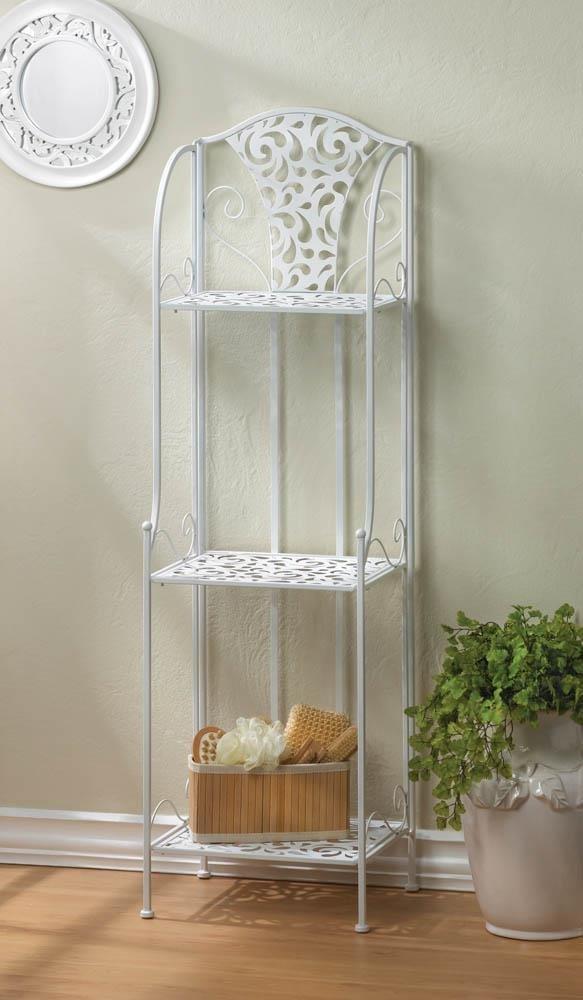 Tier Display Rack, Lace Design Metal Tiered Standing Storage Display Rack