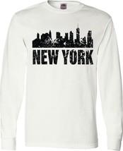 Inktastic New York Skyline Grunge Adult Long Sleeve T-Shirt - £20.65 GBP+