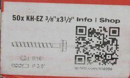 Hilti 418058 KH EZ Concrete Masonry Screw Anchor Silver 3/8 x 3 1/2 50 pcs image 4
