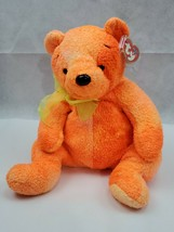 "TY Beanie Buddy Buddies TANGERINE the Orange Plush Bear 2001 10"" TAGS (L) - $10.00"