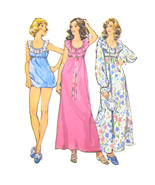 Vintage Simplicity Sewing Pattern 5988 Misses Nightgown Shortie Pajamas ... - $8.95