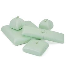Small Faux Leather Wedding Jewelry Box Organizer- Wedding Jewelry - Sage green image 2