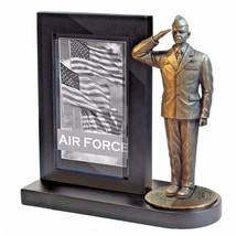 USAF Dress Blues  Bronze Cast Resin Statue With Black Base Photo Frame  - $49.49