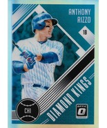 Anthony Rizzo Donruss Optic 2018 #1 Diamond Kings Silver Prizm Chicago Cubs - $1.50