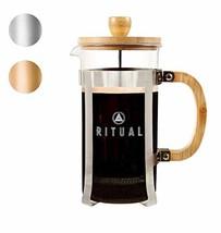 Ritual French Coffee Press, Bamboo Wood, Borosilicate Glass, and (Glass) - $23.71