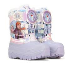 Niña Disney Frozen 2 Elsa Anna con Luz Invierno Imitación Piel Nieve Botas Nuevo