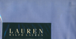 Ralph Lauren King Pillowcases 250TC 100%COTTON Set Of Two COLOR-BLUE Solid New - $94.70