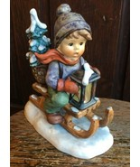 Hummel Figurine Ride Into Christmas #396 TMK 6 Goebel Excellent Conditio... - $116.99