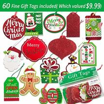 24 Christmas Gift Bags Assorted sizes with 60-Count Christmas Gift Tags(Bulk Set image 2