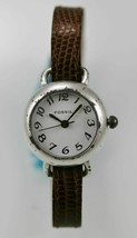 Fossil Watch Womens Stainless Steel Silver Leather Brown Water Res White... - $33.46