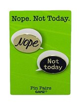 Pin Pairs Set Of 2 Lapel/ Hat Pins Tie Tacks w/ Colorful Enamel- Nope No... - $133,40 MXN