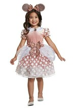 NEW Disguise Girls Disney Minnie Mouse Rose Gold Dress Costume Toddler 3T/4T