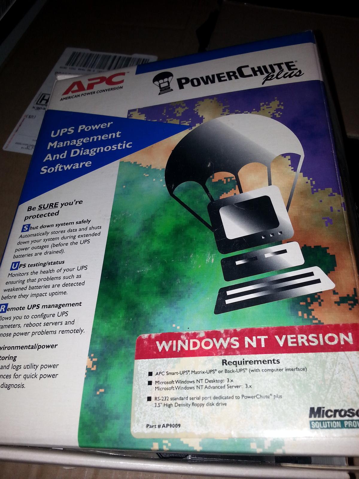 APC Powerchute Plus Windows NT 3x - $25.00
