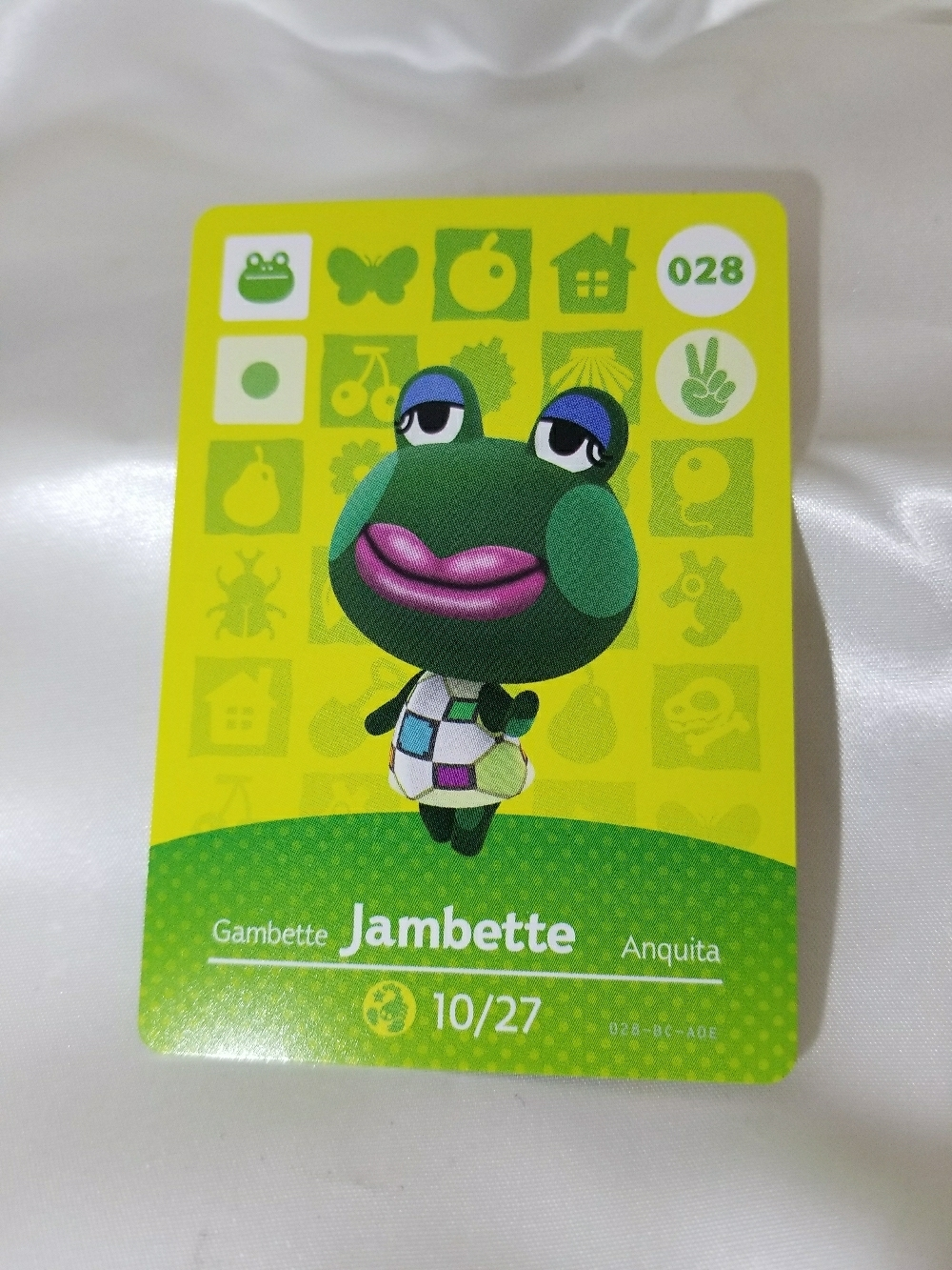 028 - Jambette - Series 1 Animal Crossing Villager Amiibo Card