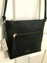 Kate Spade On Purpose Zip Pocket Crossbody Bag Swingpack Black $229 Pebb... - $98.01