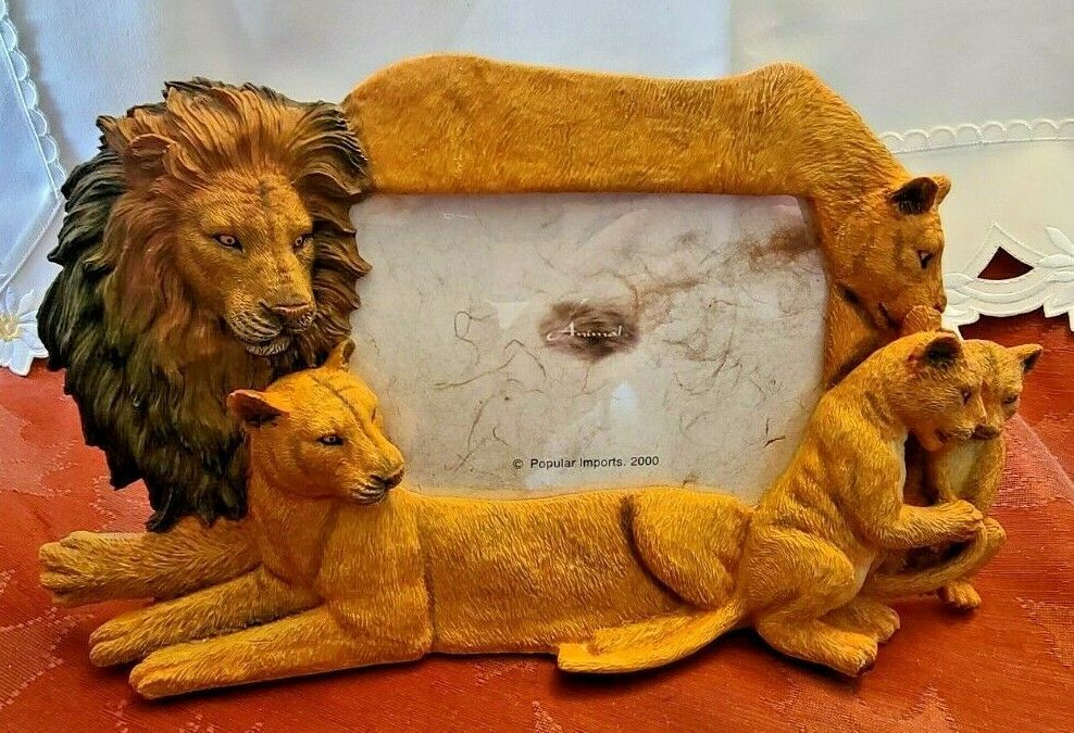 Primary image for 4X6 Picture Frame Lion Family Design Lion Lioness Cub by Popular Creations NEW