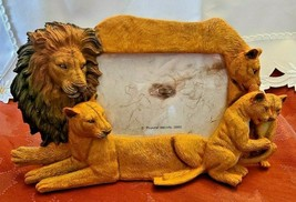 4X6 Picture Frame Lion Family Design Lion Lioness Cub by Popular Creations NEW image 1