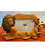 4X6 Picture Frame Lion Family Design Lion Lioness Cub by Popular Creations NEW - $9.99