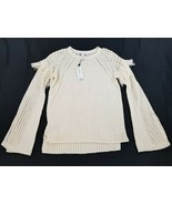 new BCBGeneration women shirt sweater DLE15A06-101 cream off white S MSR... - $34.64