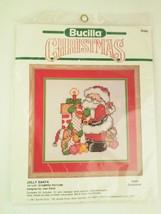 Bucilla Christmas Jolly Santa Avon Exclusive Cross Stitch Kit 82869 10x1... - $14.54