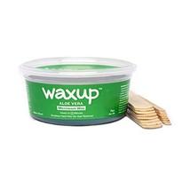 Waxup Microwave Hard Wax Kit, Aloe Vera, 7 Ounces Pot with 8 Large Wax Sticks, H image 1