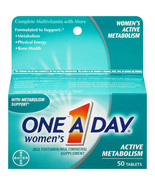 One A Day Women's Active Metabolism Multivitamin Tabs 2 x 50/Pack. New. ... - $25.39