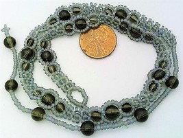 Smoky Quartz Beaded Daisy Chain Necklace - $16.99