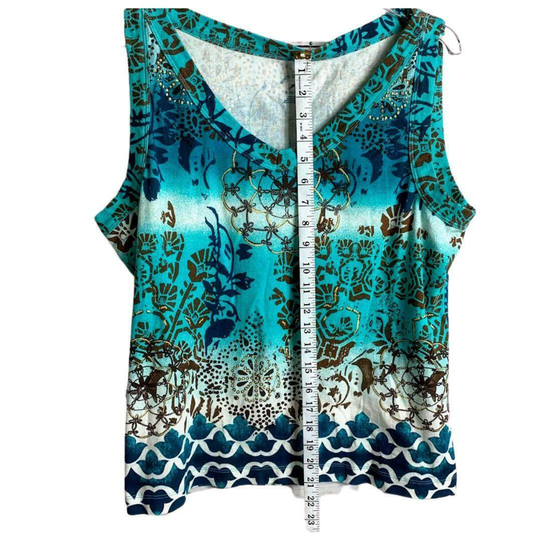 Primary image for White Stag Aqua Sleeveles V Neck Top XL