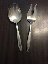 Woodsong Holmes & Edwards Deepsilver Silverplate  Serving Spoon & Servin... - $8.60